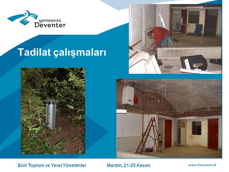 Tadilat çalışmaları Sivil Toplum ve Yerel Yönetimler Mardin, 21-25 Kasım