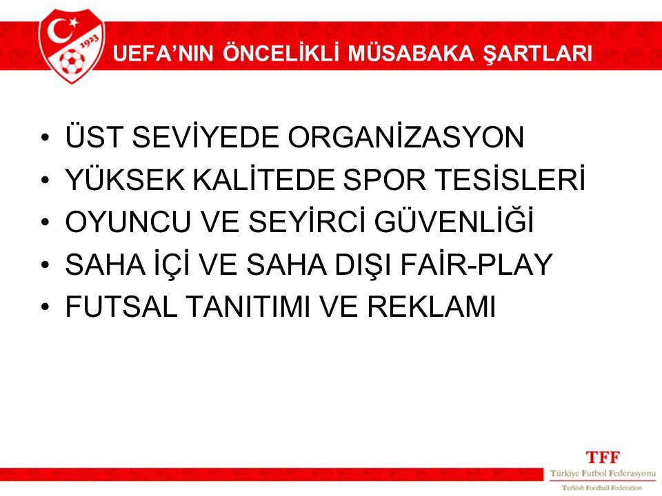 UEFA'NIN ÖNCELİKLİ MÜSABAKA ŞARTLARI