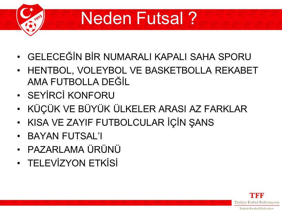 Neden Futsal GELECEĞİN BİR NUMARALI KAPALI SAHA SPORU