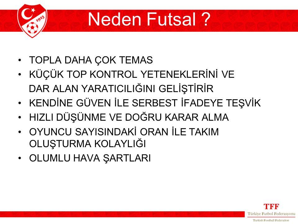 Neden Futsal TOPLA DAHA ÇOK TEMAS KÜÇÜK TOP KONTROL YETENEKLERİNİ VE