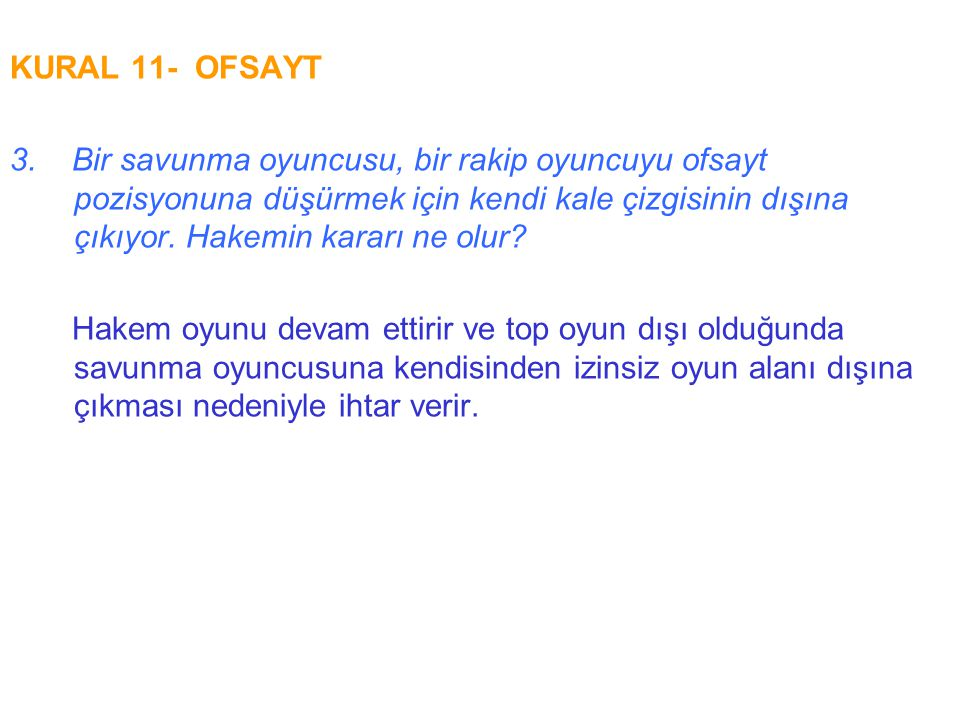 KURAL 11- OFSAYT