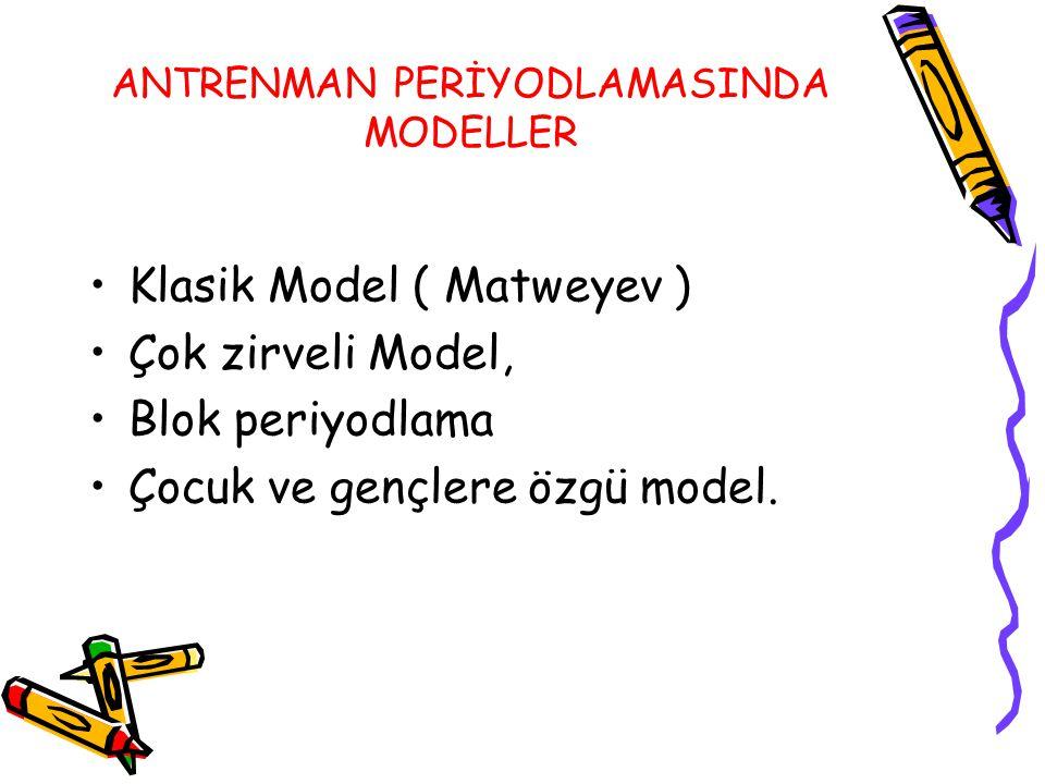 ANTRENMAN PERİYODLAMASINDA MODELLER