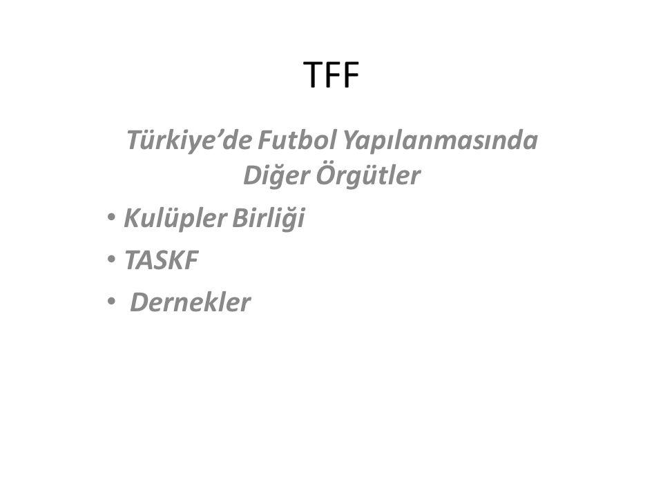 Türkiye'de Futbol Yapılanmasında Diğer Örgütler