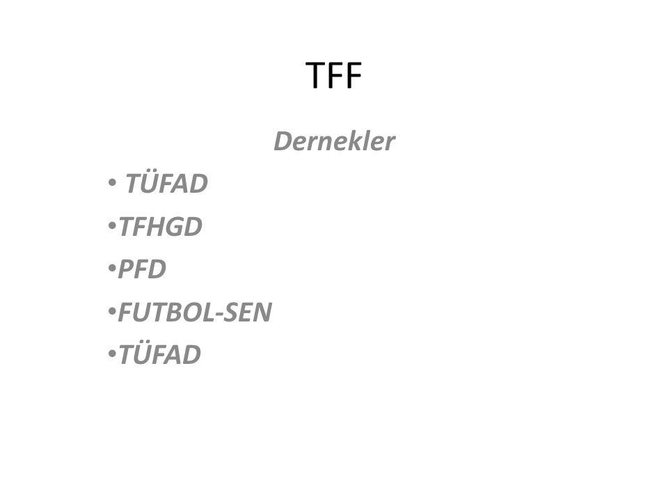 Dernekler TÜFAD TFHGD PFD FUTBOL-SEN