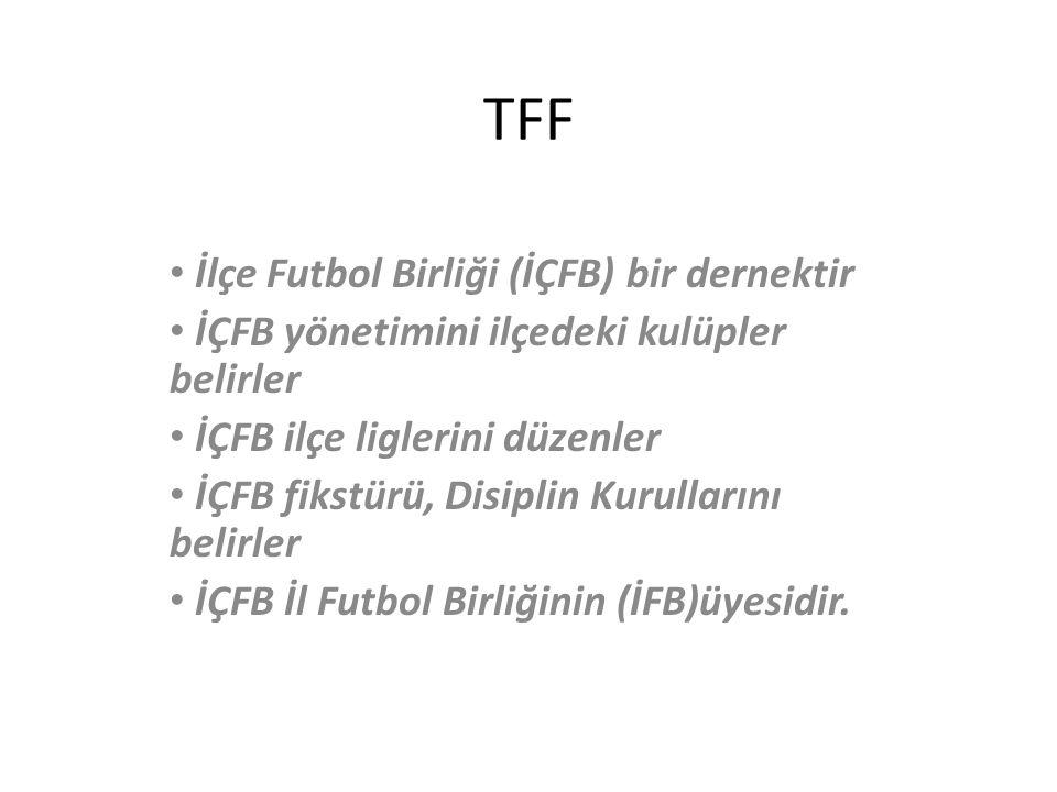 TFF İlçe Futbol Birliği (İÇFB) bir dernektir