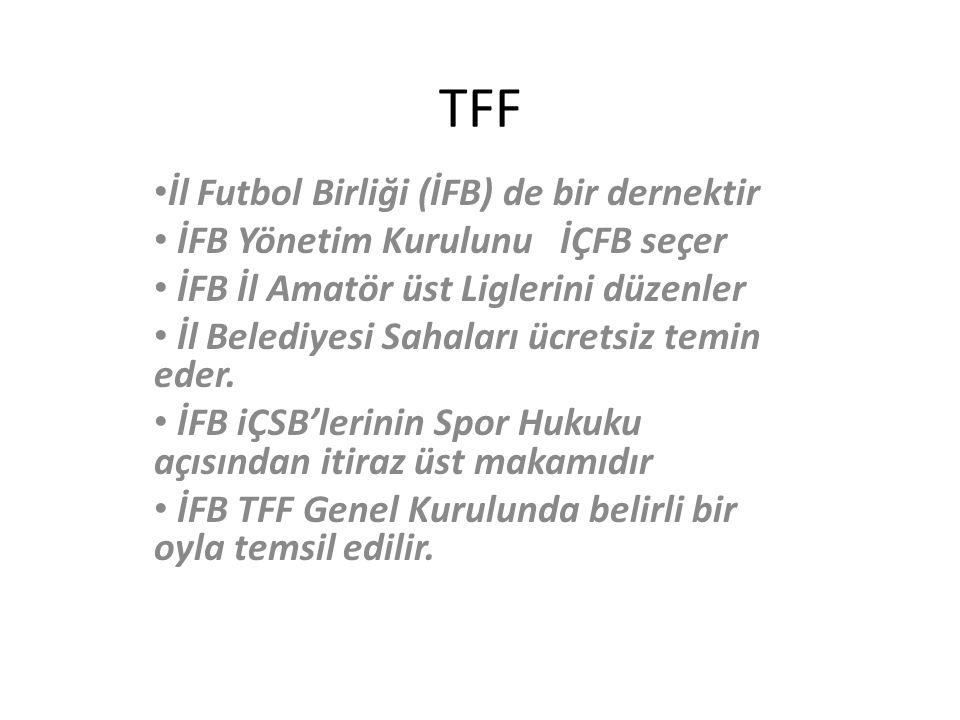 TFF İl Futbol Birliği (İFB) de bir dernektir