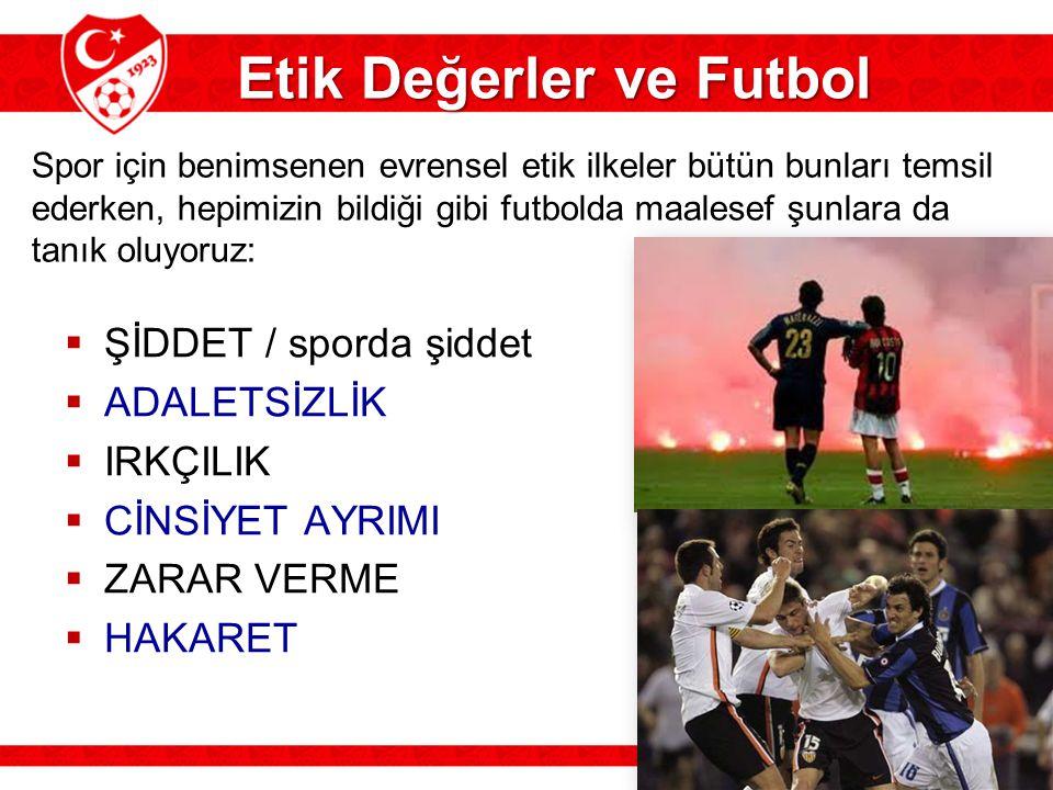 Etik Değerler ve Futbol