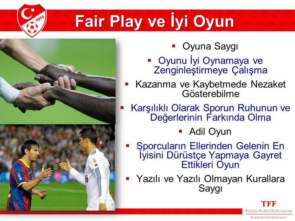 Fair Play ve İyi Oyun Oyuna Saygı