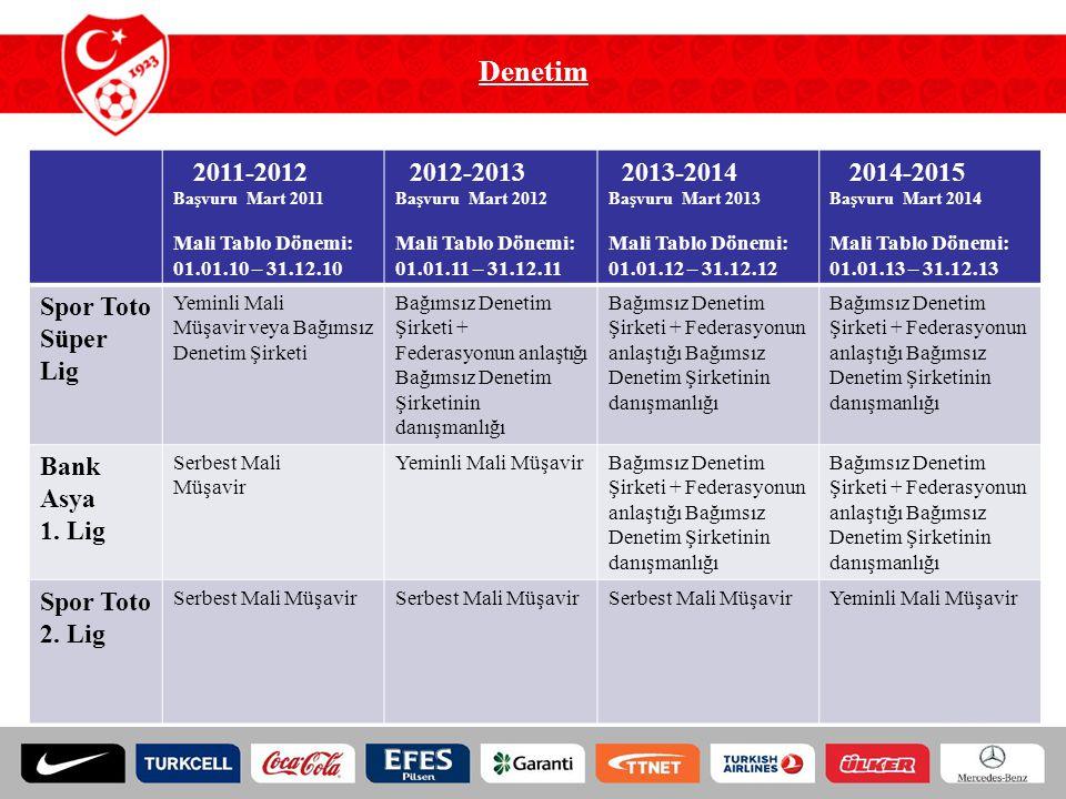 Denetim 2011-2012 2012-2013 2013-2014 2014-2015 Spor Toto Süper Lig