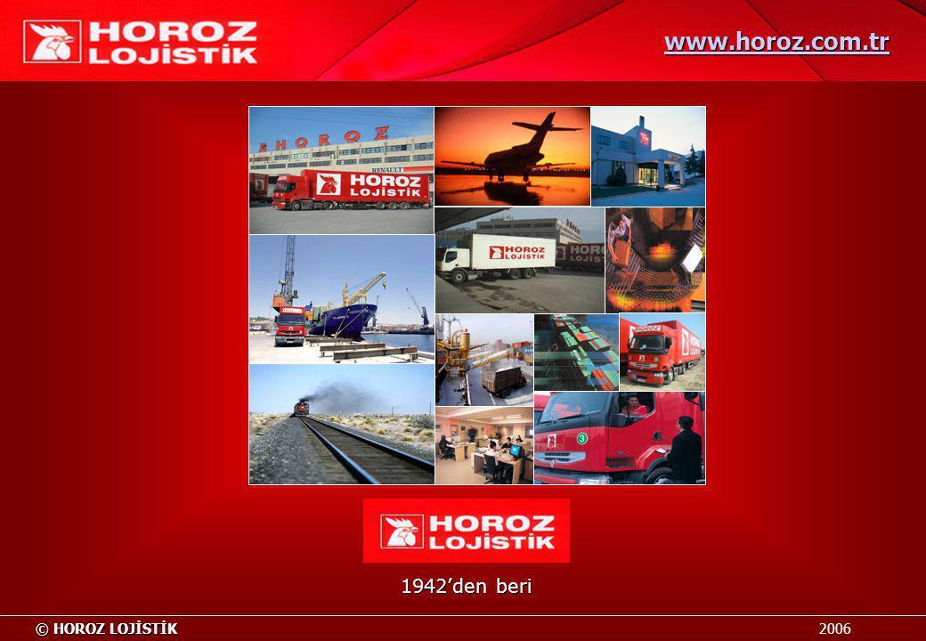 www.horoz.com.tr 1942'den beri HOROZ LOJİSTİK 2006
