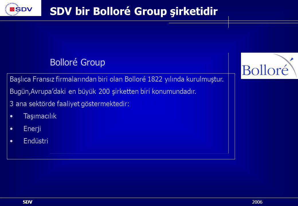 SDV bir Bolloré Group şirketidir