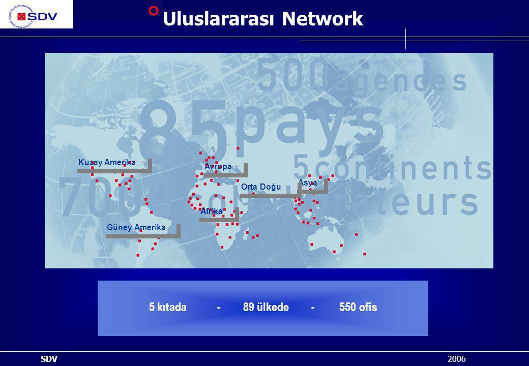 Uluslararası Network 5 kıtada - 89 ülkede - 550 ofis Kuzay Amerika