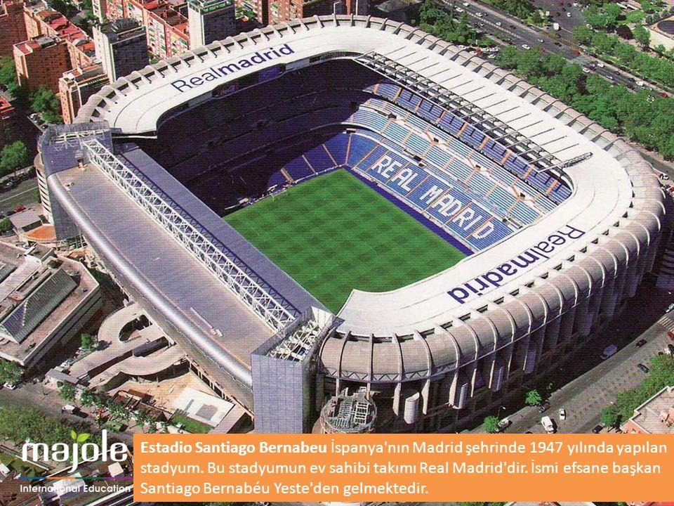 Estadio Santiago Bernabeu İspanya nın Madrid şehrinde 1947 yılında yapılan stadyum.