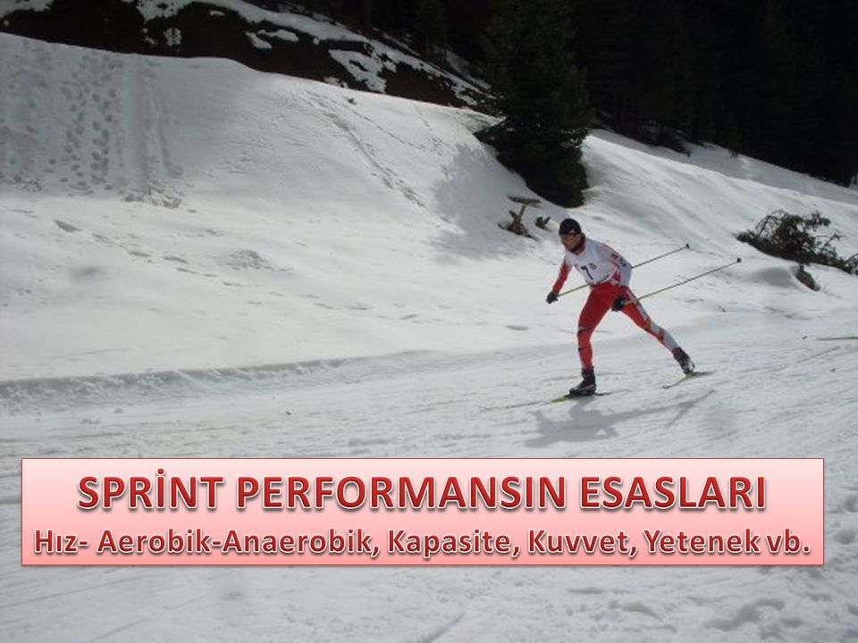 SPRİNT PERFORMANSIN ESASLARI