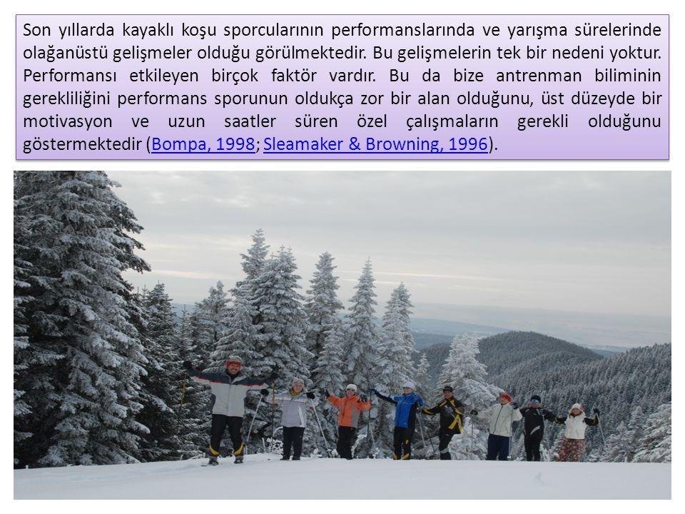 Son yıllarda kayaklı koşu sporcularının performanslarında ve yarışma sürelerinde olağanüstü gelişmeler olduğu görülmektedir.