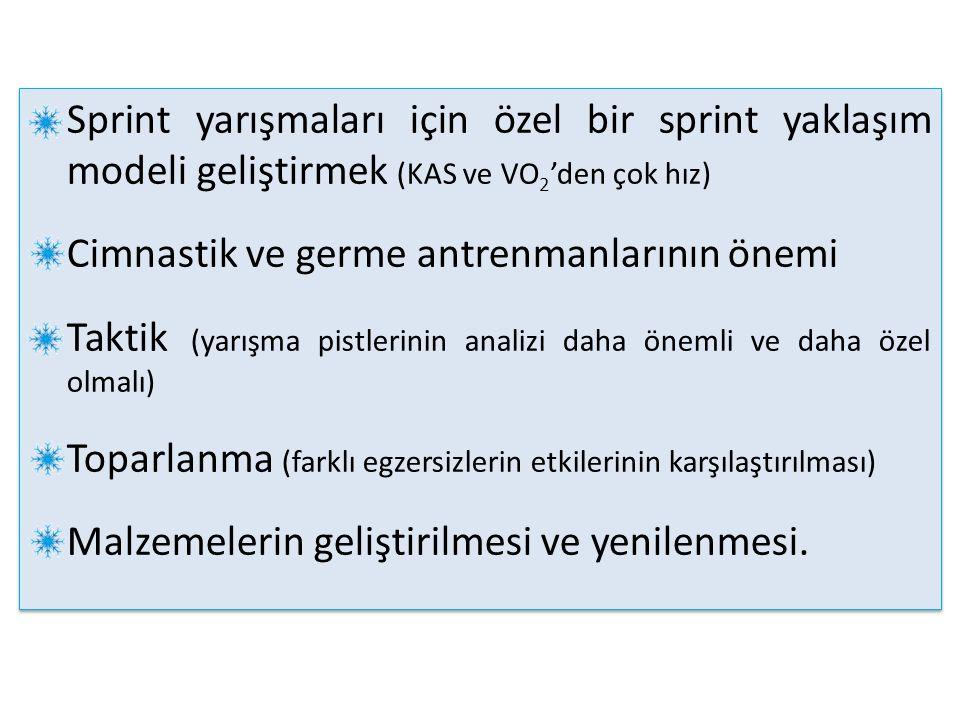 Sprint yarışmaları için özel bir sprint yaklaşım modeli geliştirmek (KAS ve VO2'den çok hız)