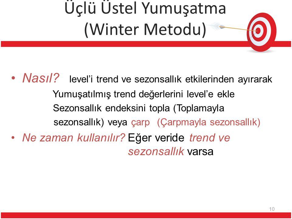Üçlü Üstel Yumuşatma (Winter Metodu)