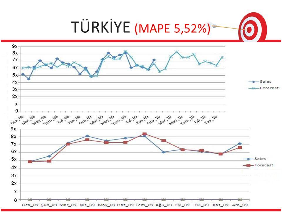 TÜRKİYE (MAPE 5,52%) 1 Reference 19