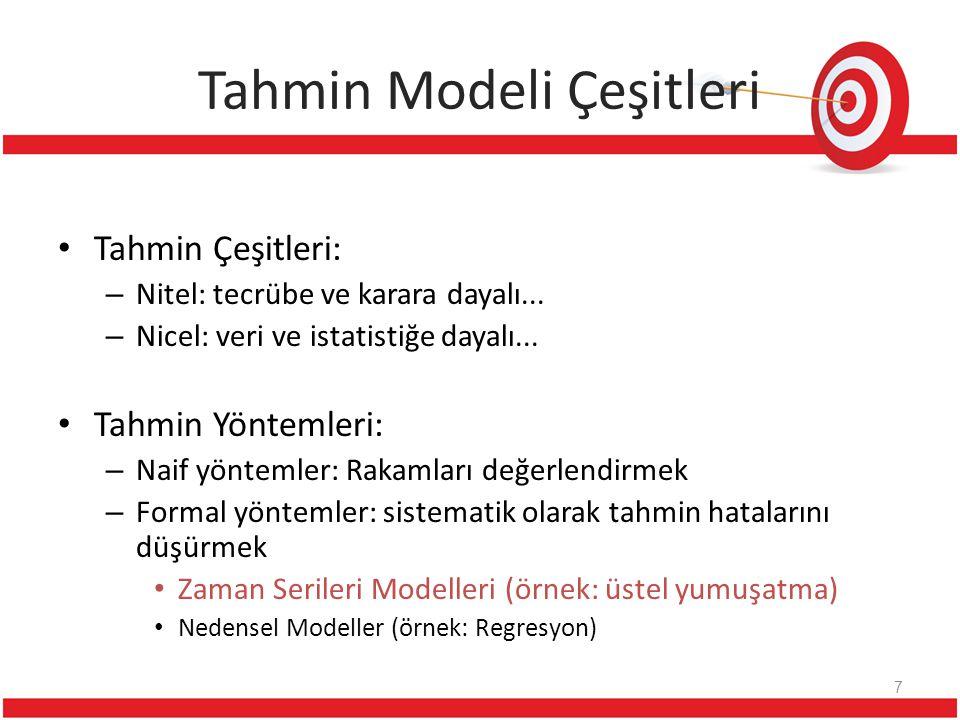 Tahmin Modeli Çeşitleri