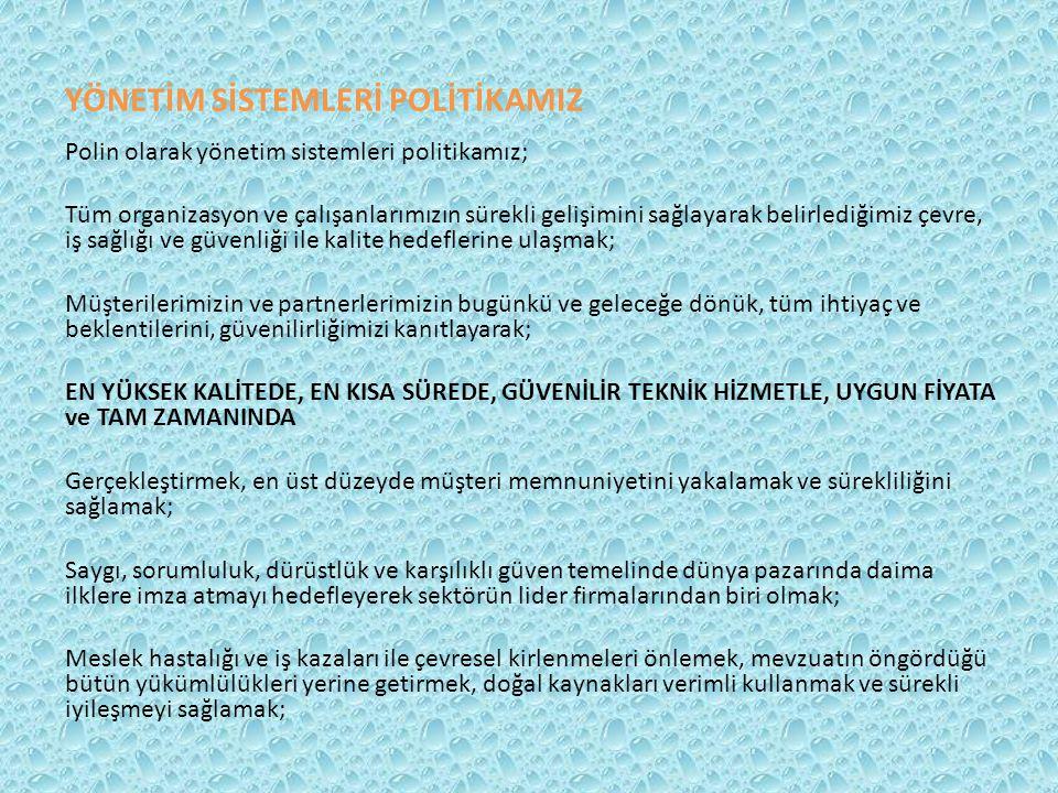 YÖNETİM SİSTEMLERİ POLİTİKAMIZ