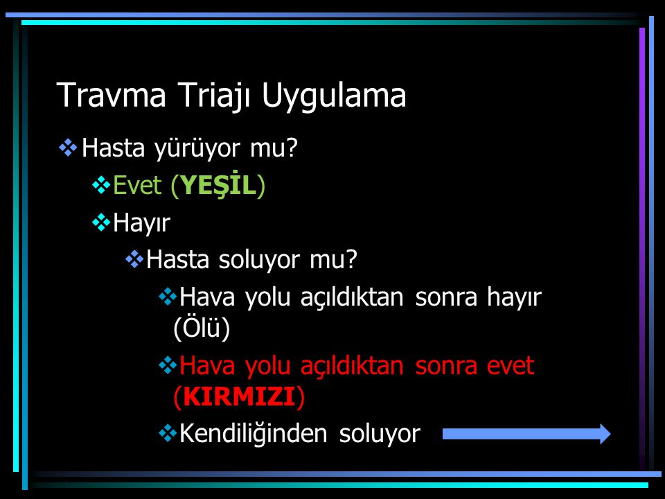Travma Triajı Uygulama