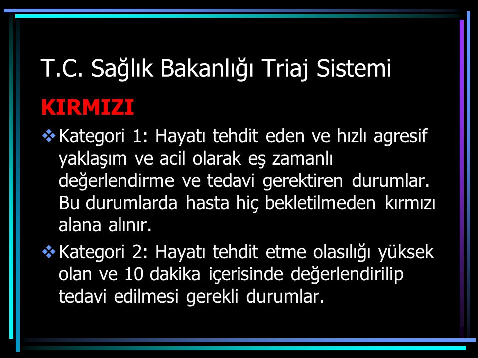 T.C. Sağlık Bakanlığı Triaj Sistemi