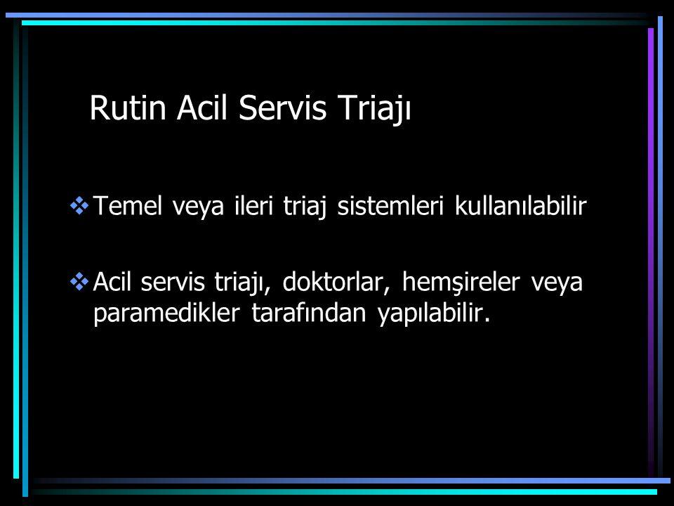 Rutin Acil Servis Triajı