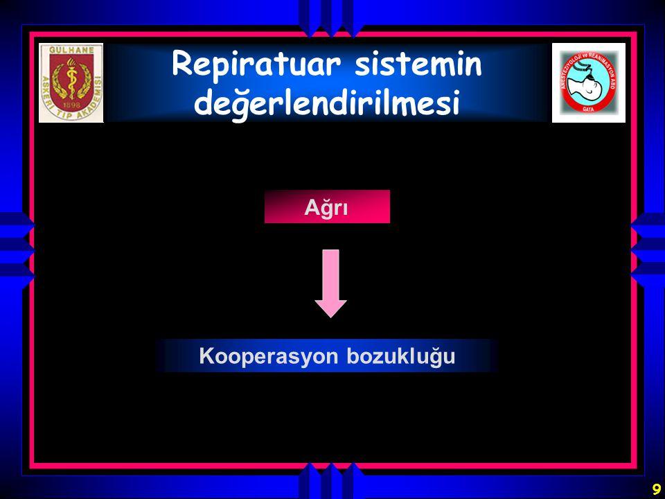 Repiratuar sistemin değerlendirilmesi