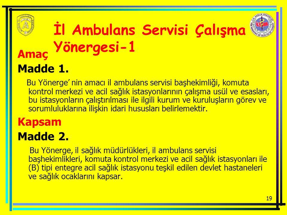 İl Ambulans Servisi Çalışma Yönergesi-1