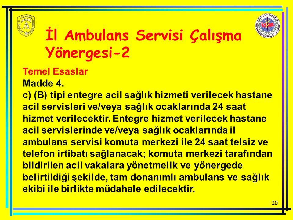 İl Ambulans Servisi Çalışma Yönergesi-2