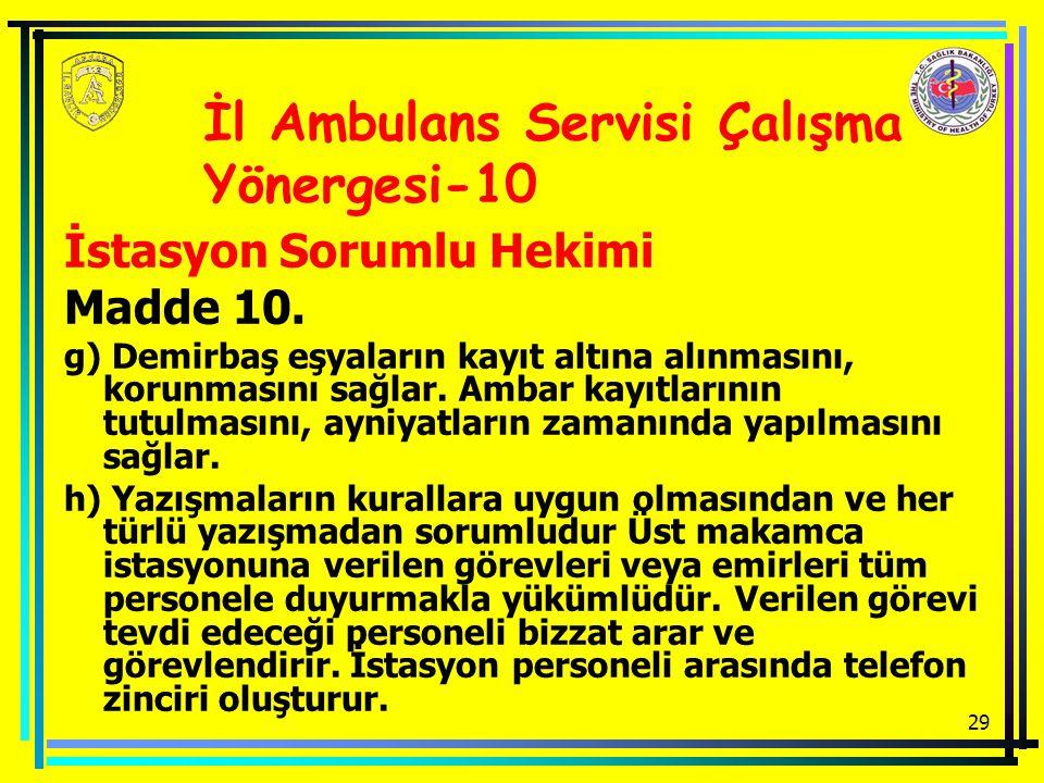 İl Ambulans Servisi Çalışma Yönergesi-10
