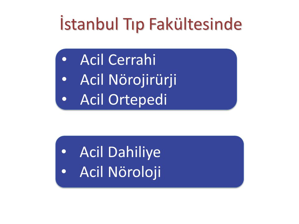 İstanbul Tıp Fakültesinde