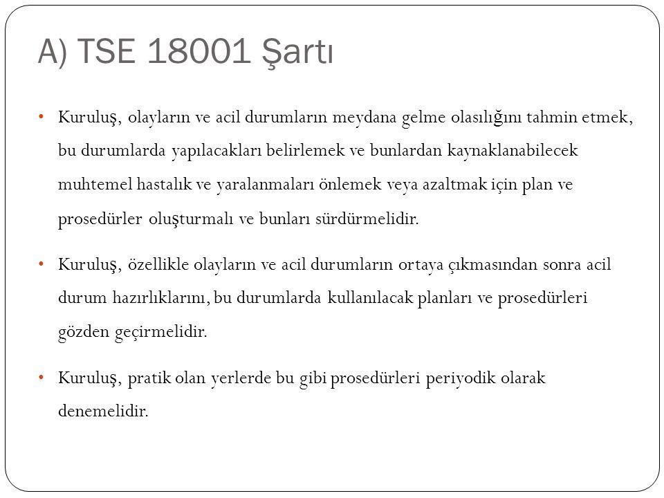 A) TSE 18001 Şartı