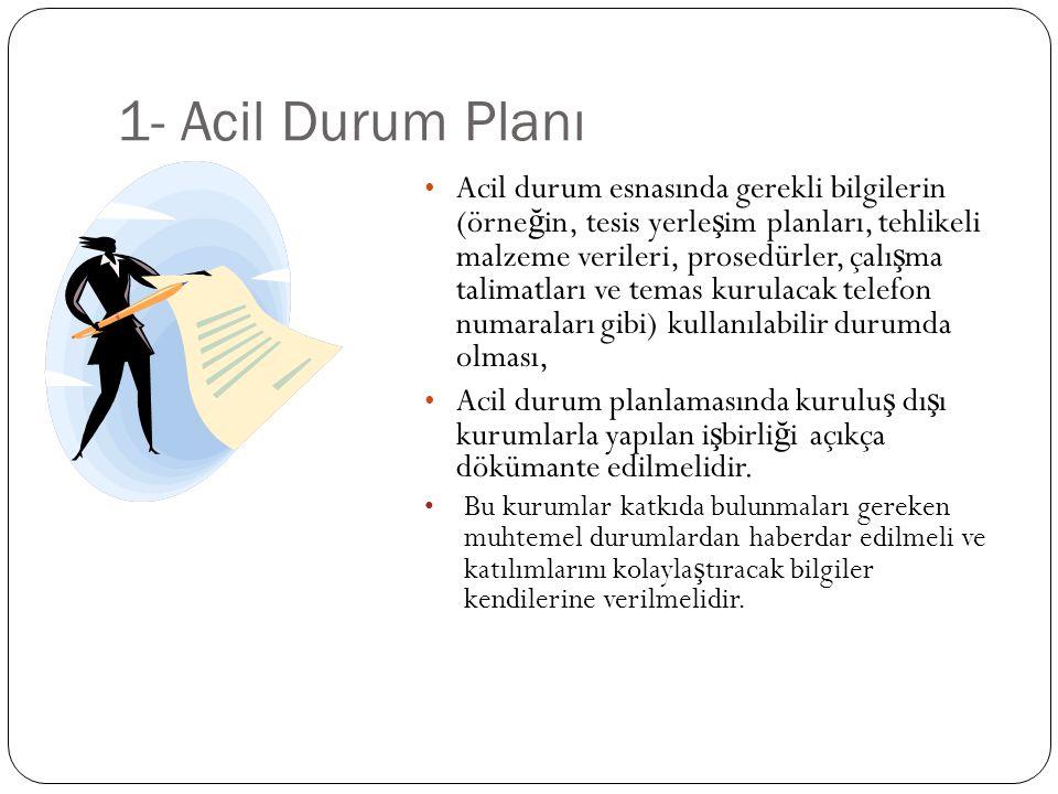 1- Acil Durum Planı