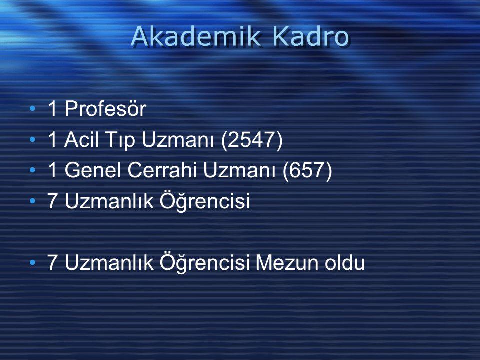 Akademik Kadro 1 Profesör 1 Acil Tıp Uzmanı (2547)