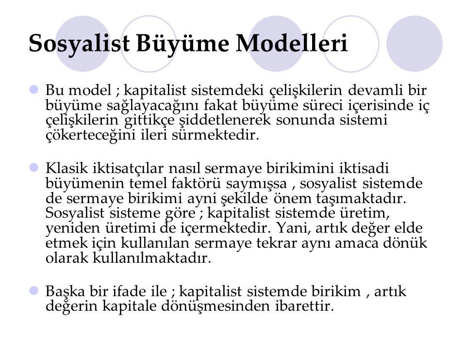 Sosyalist Büyüme Modelleri