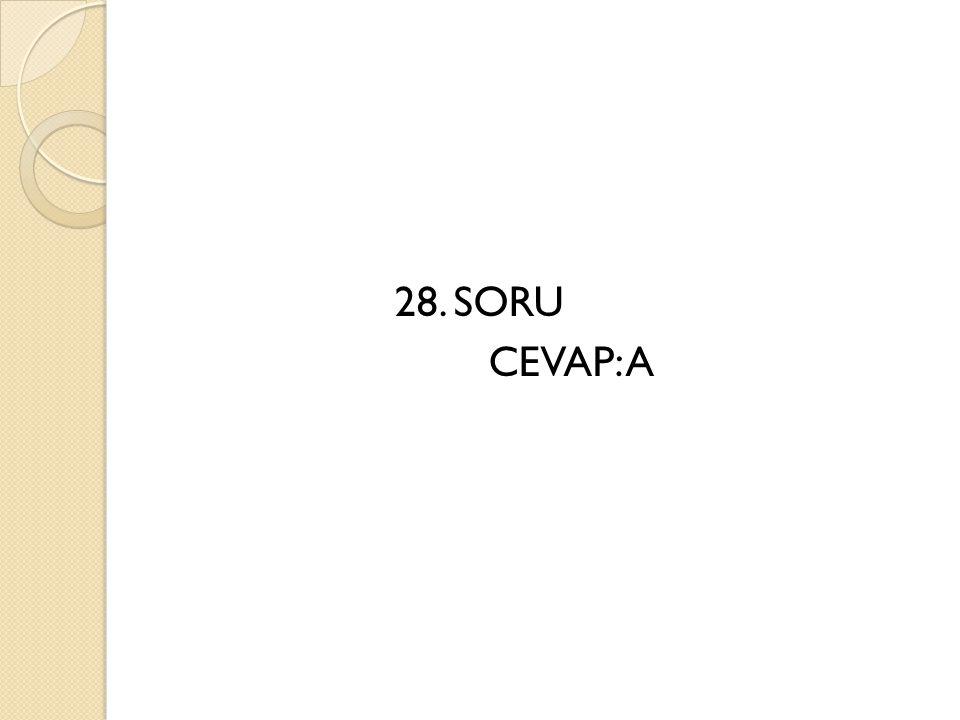 28. SORU CEVAP: A