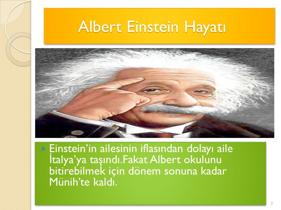 Albert Einstein Hayatı