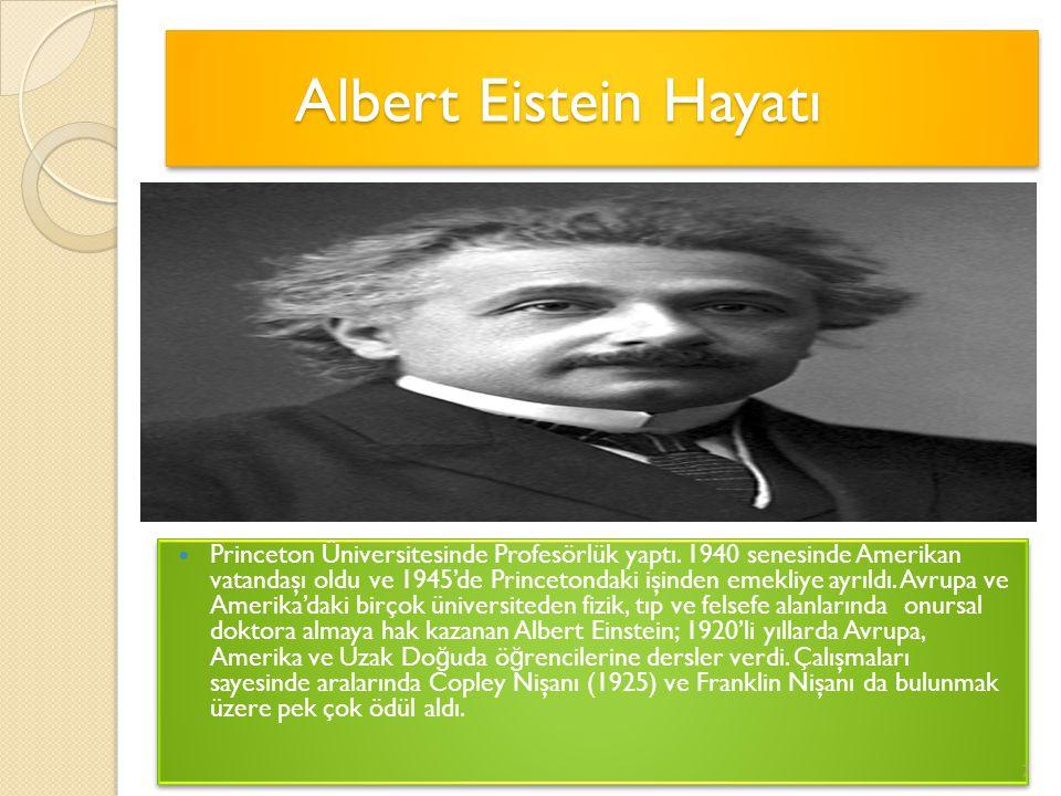 Albert Eistein Hayatı
