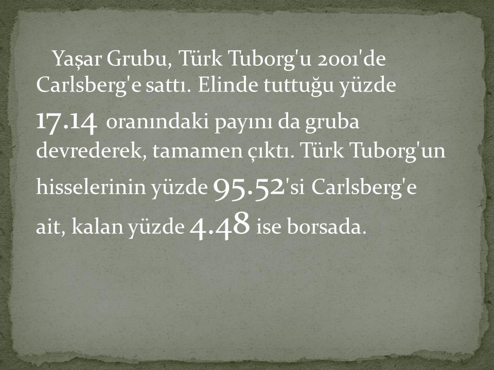 Yaşar Grubu, Türk Tuborg u 2001 de Carlsberg e sattı