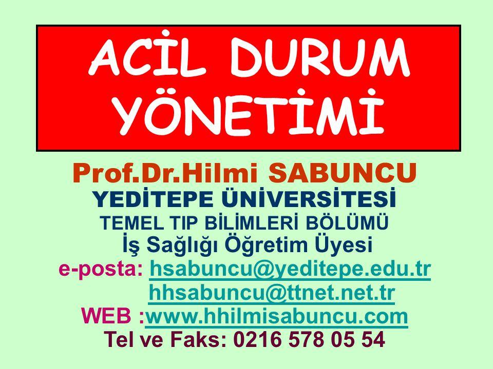 Prof.Dr.Hilmi SABUNCU YEDİTEPE ÜNİVERSİTESİ TEMEL TIP BİLİMLERİ BÖLÜMÜ