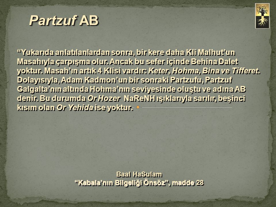 Kabala'nın Bilgeliği Önsöz , madde 28