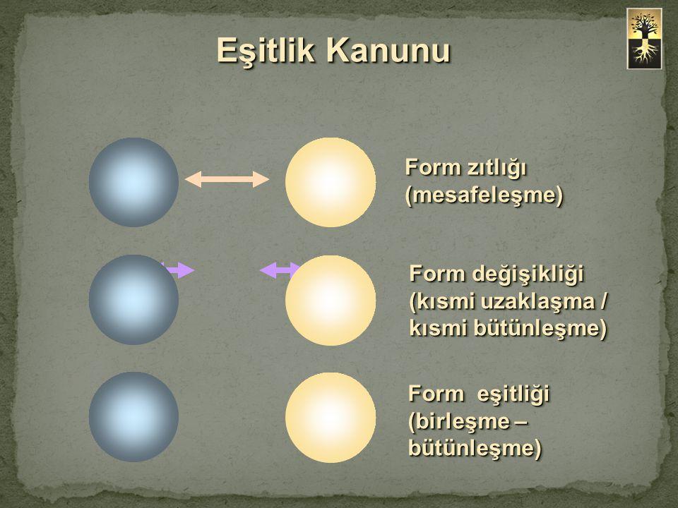 Eşitlik Kanunu Form zıtlığı (mesafeleşme)
