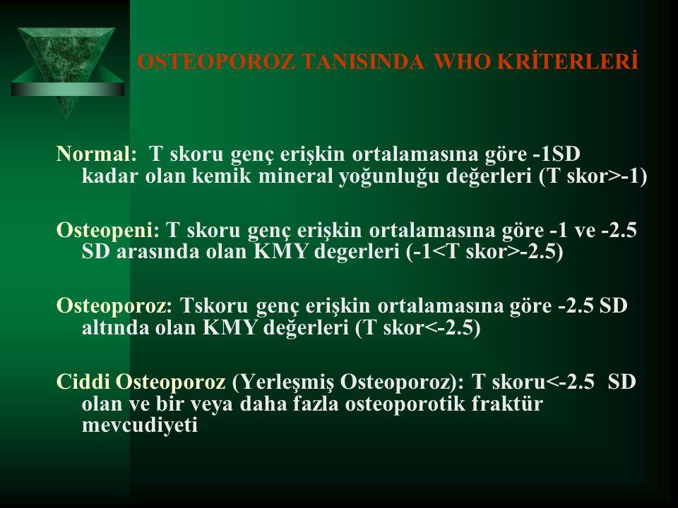OSTEOPOROZ TANISINDA WHO KRİTERLERİ