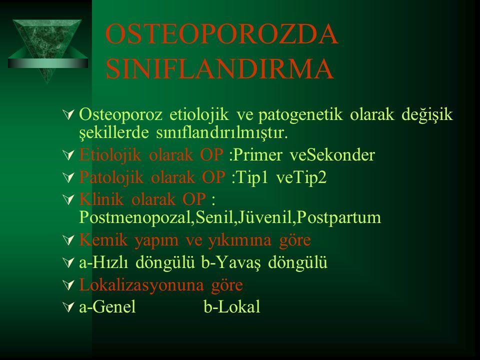 OSTEOPOROZDA SINIFLANDIRMA