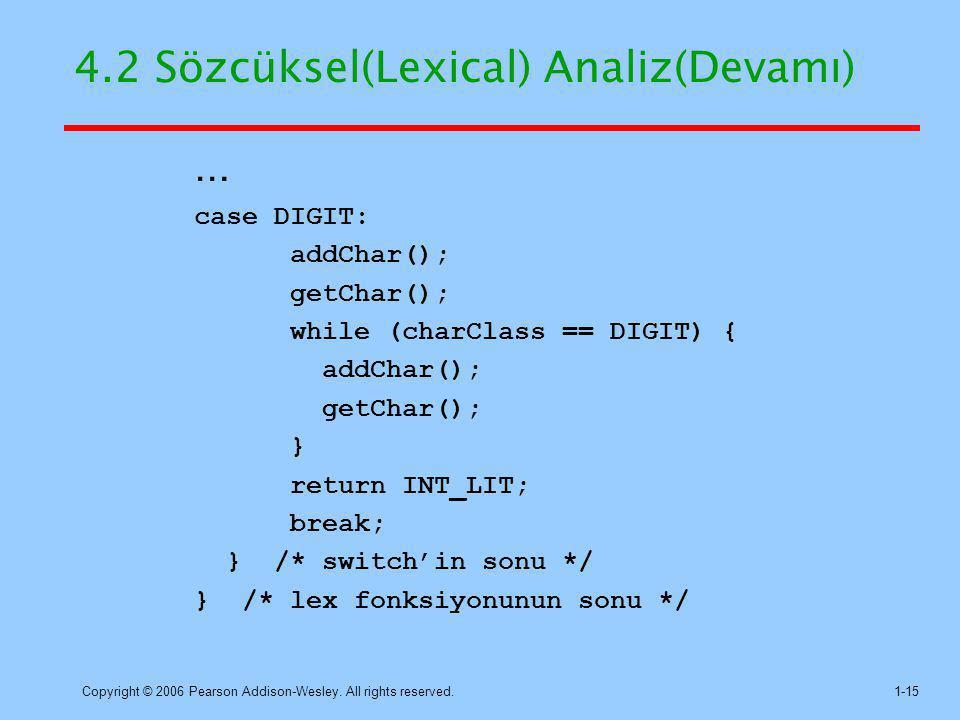 4.2 Sözcüksel(Lexical) Analiz(Devamı)