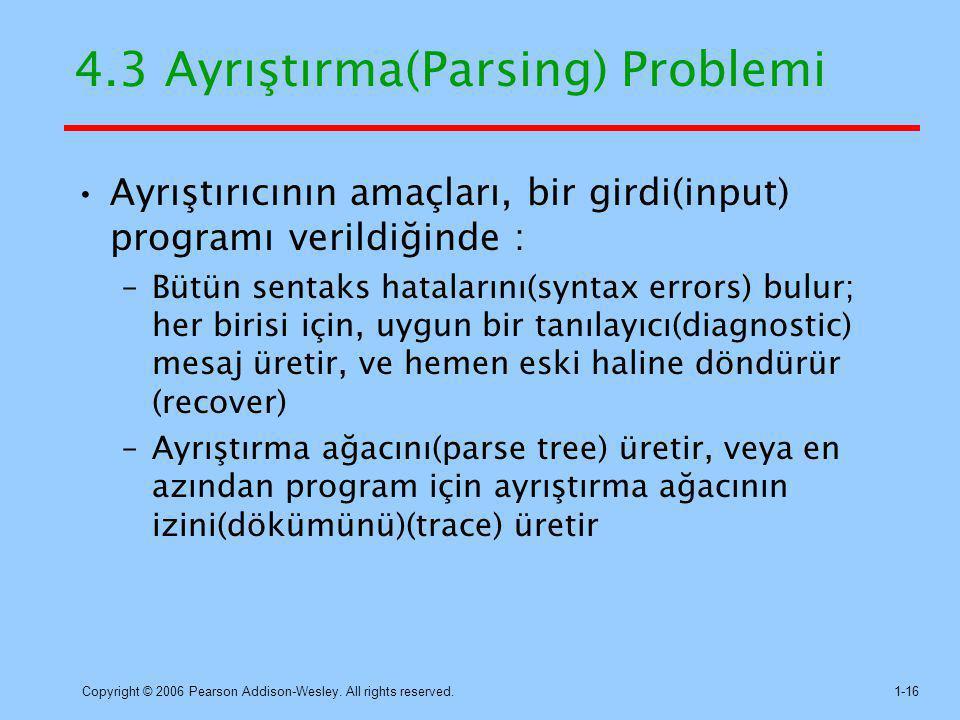 4.3 Ayrıştırma(Parsing) Problemi