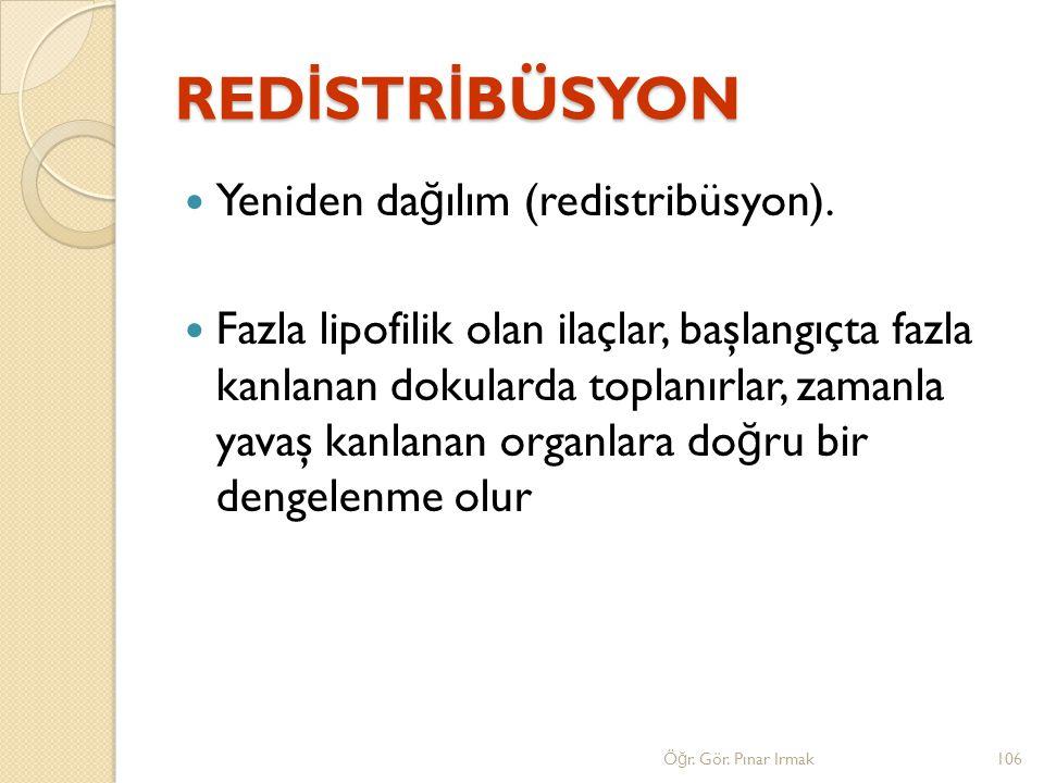 REDİSTRİBÜSYON Yeniden dağılım (redistribüsyon).