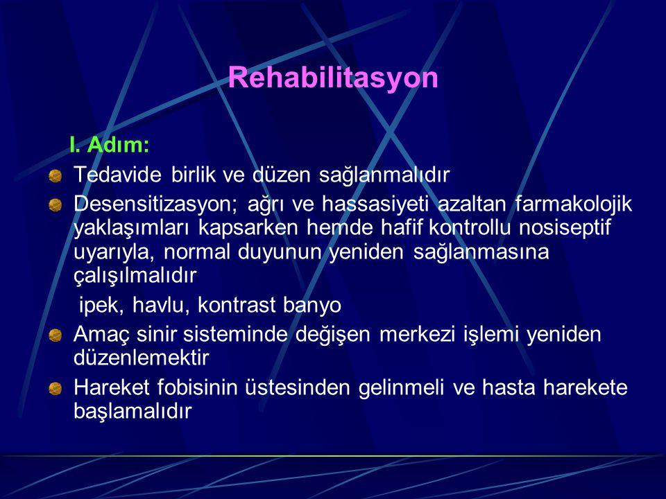 Rehabilitasyon Tedavide birlik ve düzen sağlanmalıdır