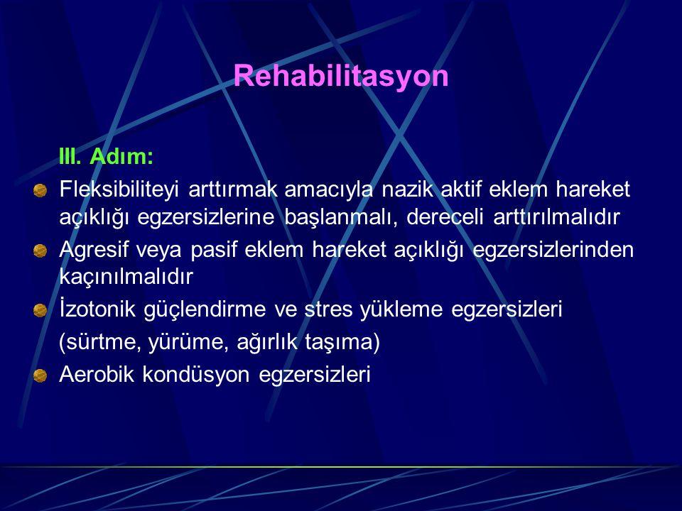 Rehabilitasyon III. Adım: